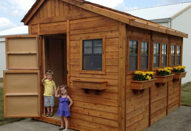 Sunshed 8 x 12 Garden Shed | BetterGreenHosues.com on Outdoor Living Today Sunshed id=78592