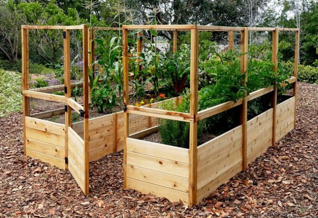 Raised Garden Bed 8 X 12 With Deer Fence Kit